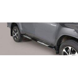 Nerezové boční nášlapy oválné - Toyota Hilux 16+ TO 16 DSP/410/IX