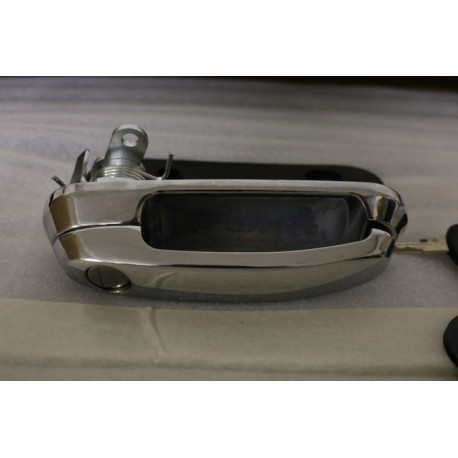 Klika se zámkem a klíči pro hardtop Aeroklas - Chrom - povrch