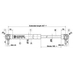Písty CKT 05 -250N pre hardtop mitsubishi MZ313658S3