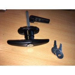 """Kľučka """"T"""" so zámkom a kľúčmi - HT nikotop 570 N"""