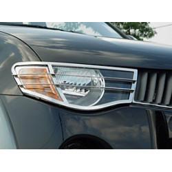 Nerezové kryty předních světel Mitsubishi L200.MK.5 (Triton)