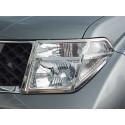Nerezové kryty předních světel Nissan Navara (D40)