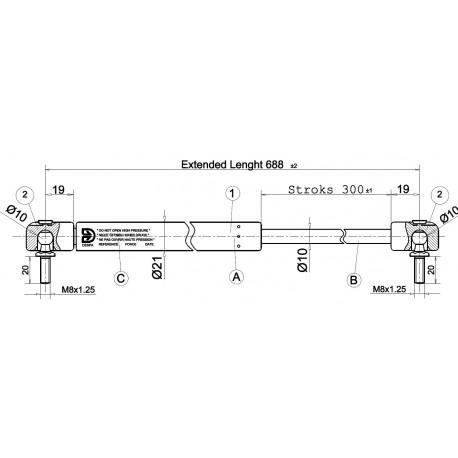 Písty CKT 07 - 250N pro model CKT Sport Lid