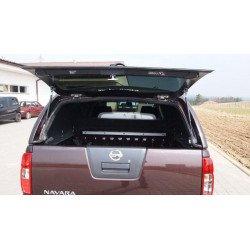 Samonosné sklo zadních dveří na hardtop CKT Nissan D40 Work I / Windows I dark gray